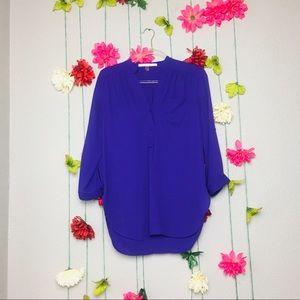 Stitch Fix 41 Hawthorn Purple Button Down Blouse S
